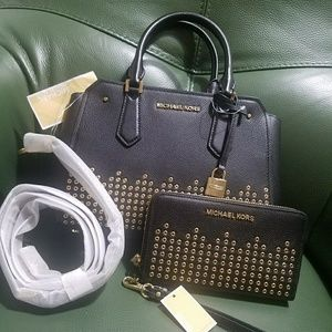 new $550 set wallet+bag michael kors mk AUTHENTIC